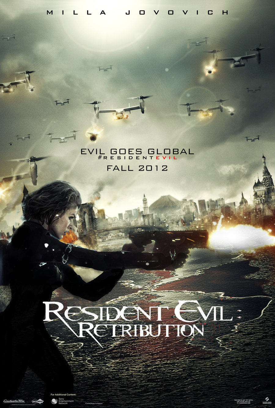 Resident Evil Retribution Poster And Wallpaper 2 A Legally Black